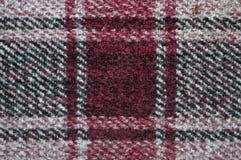 Фиолетовая теплая шотландка с клетками Справочная информация Стоковые Изображения