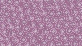 фиолетовая ткань с белыми цветками Стоковые Изображения RF