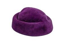 Фиолетовая шляпа замши Стоковое Изображение
