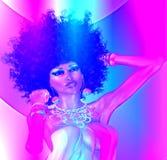 Фиолетовое абстрактное, ретро изображение танца Стоковая Фотография
