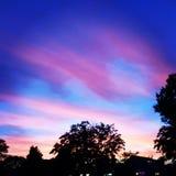 Фиолетовое/розоватое небо Стоковые Фото