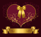Фиолетовое сердце Стоковое Изображение RF