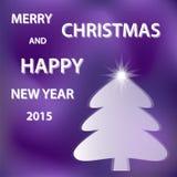 Фиолетовое с Рождеством Христовым Стоковые Изображения RF