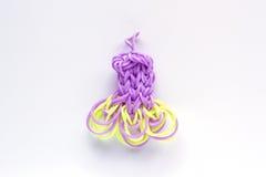 Фиолетовое эластичное сформированное платье диапазонов тени радуги Стоковые Фотографии RF