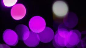 Фиолетовое Bokeh освещает (Loopable) 1080i видеоматериал