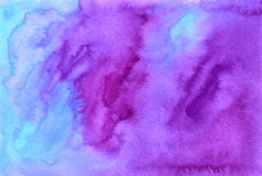 Фиолетовой покрашенная акварелью предпосылка вектора Стоковое Изображение