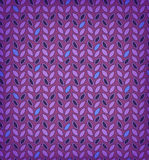 Фиолетовую флористическую картину, предпосылку с строками листьев можно использовать для обоев, интернет-страниц, карточек, искусс Стоковые Изображения
