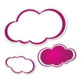 Фиолетовые белые облака Иллюстрация вектора