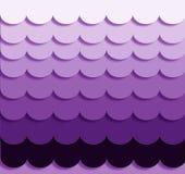 Фиолетовые волны Ombre Стоковые Изображения