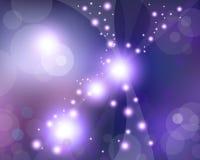 Фиолетовые звезды космоса Стоковая Фотография RF