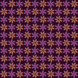 Фиолетовые и оранжевые цветки мозаики Стоковые Фотографии RF