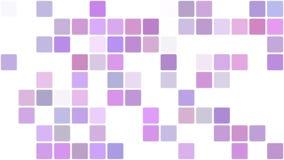 Фиолетовые квадраты появляясь в предпосылку мозаики акции видеоматериалы