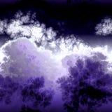Фиолетовые мраморные токсические облака Стоковое фото RF