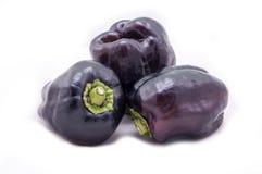 Фиолетовые паприки колокола Стоковые Фотографии RF