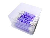 Фиолетовые пробирки хлопка Стоковая Фотография RF