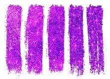 Фиолетовые сияющие образцы заполированности яркого блеска Стоковые Изображения RF