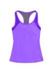Фиолетовые спорт покрывают, изолированный на белой предпосылке Стоковое Изображение