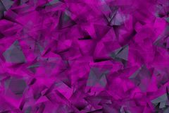 Фиолетовые формы в тумане иллюстрация вектора