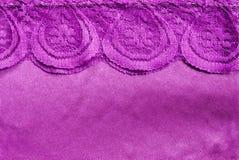 Фиолетовые шелк и шнурок Стоковая Фотография RF