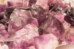 Фиолетовые amethyst кристаллы Стоковые Фотографии RF