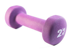 Фиолетовые dumbells на белой предпосылке Стоковые Фотографии RF