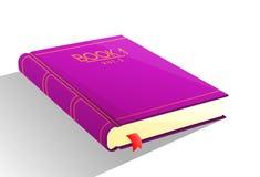 Фиолетовый вектор книги Стоковые Изображения