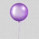 Фиолетовый воздушный шар иллюстрация вектора