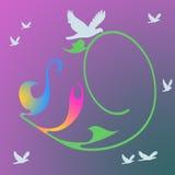 Фиолетовый голубой конспект Стоковое Фото