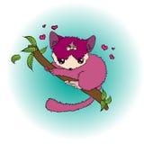 Фиолетовый лемур младенца Стоковые Фотографии RF