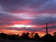 Фиолетовый заход солнца Атланта Стоковая Фотография RF