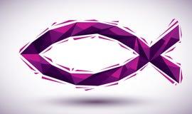 Фиолетовый значок Иисуса геометрический сделанный в современном стиле 3d, наиболее хорошо для нас Стоковое Фото