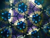 Фиолетовый и голубой взгляд калейдоскопа Стоковые Фотографии RF