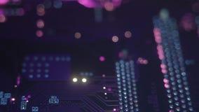 Фиолетовый конец-вверх обломока сток-видео