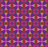 Фиолетовый - красные этнические картины Стоковое Фото