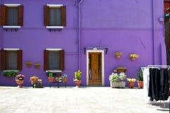 Фиолетовый дом в Венеции Стоковые Фото