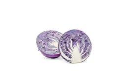 Фиолетовый путь клиппирования капусты Стоковые Фото