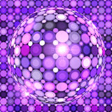Фиолетовый сияющий шарик диско вектора Стоковые Фотографии RF