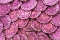 Фиолетовый сладкий картофель Стоковая Фотография