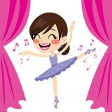 Фиолетовый танцор балетной пачки балерины иллюстрация штока