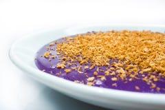 Фиолетовый торт риса стоковая фотография