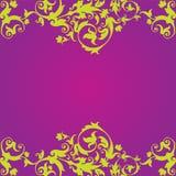 Фиолетовый файл EPS вектора иллюстрации дизайна Floaral Стоковая Фотография