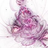Фиолетовый цветок фрактали с цветнем Стоковые Изображения