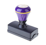 Фиолетовый штемпель стоковое изображение rf