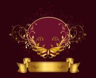 Фиолетовый ярлык Стоковые Изображения