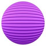 Фиолетовый striped шарик украшения Стоковая Фотография