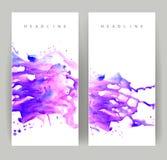 2 фиолетовых знамени Стоковое фото RF