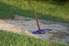 2 фиолетовых подковы на horseshoe коле Стоковая Фотография