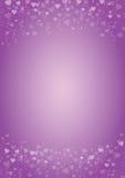 Фиолетов-сердц-влюбленност-предпосылка Стоковые Изображения