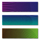 Фиолет и синь знамени графиков сети Стоковые Изображения