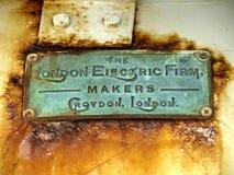 Фирма Лондона электрическая стоковая фотография rf